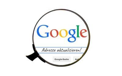 Google Adresse in Datenschutzerklärung aktualisieren
