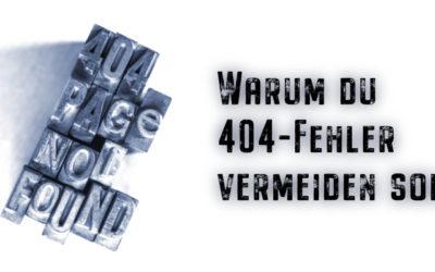 404-Fehler vermeiden