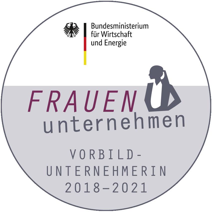 BMWi-Siegel Vorbildunternehmerin 2018-2021