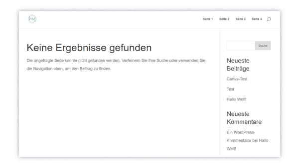 404-Standardseite in WordPress