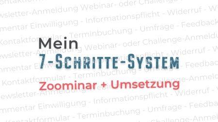 Zoominar + CoWorking - 7 Schritte zum DSGVO-konformen Formular